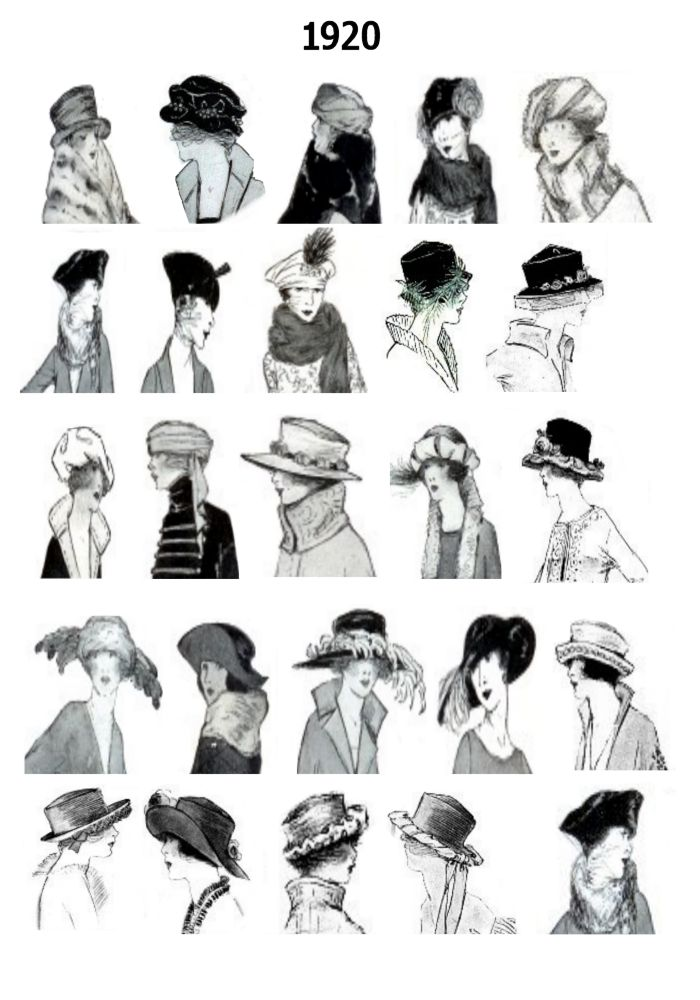 1920s Pictures Hats 20s Hair Style Fashions - Fashion History ... 24d2e622ba7